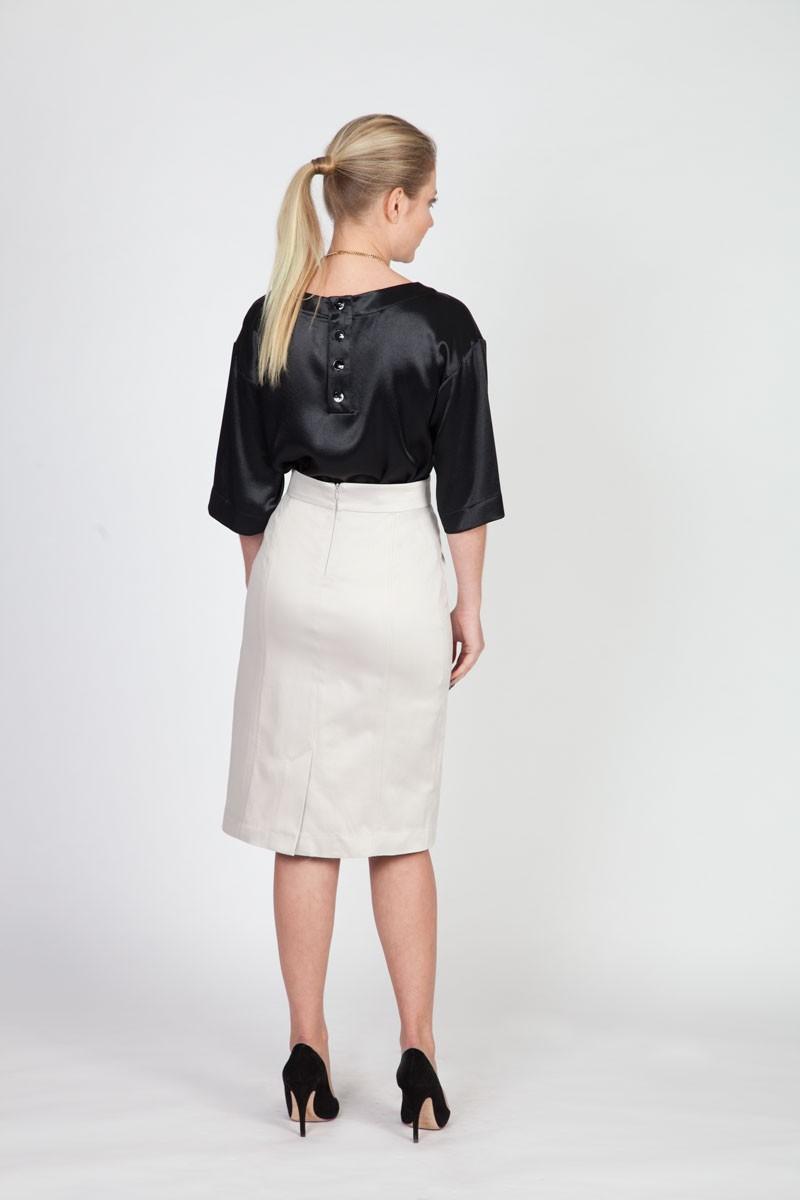 menuchab collection light gray pencil skirt
