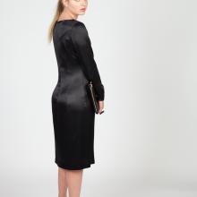 MenuchaB LBD Black Silk Midi Dress Side look
