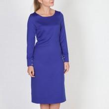 שמלת משי כחול רויאל
