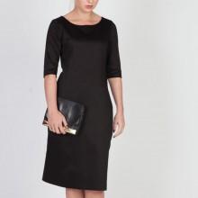 שמלת כותנה שחורה