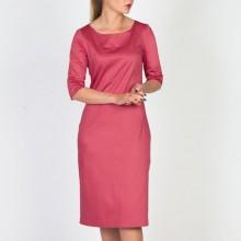 שמלת כותנה ורודה