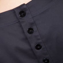 MenuchaB Cotton Pleated Blouse Navy Blue Back detail look