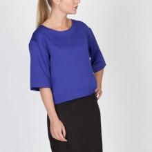 חולצת משי כחול רויאל