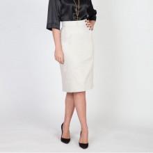 חצאית עפרון אפור בהיר